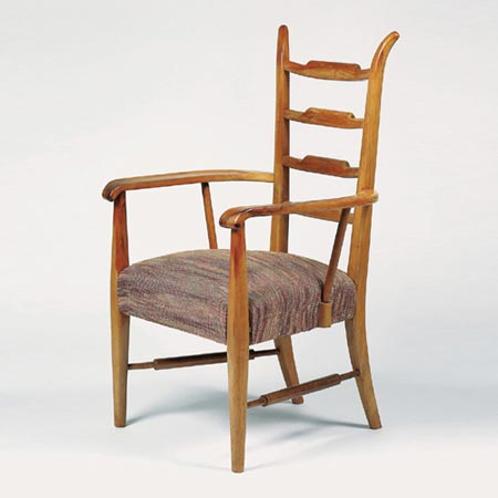 Tall-back armchair