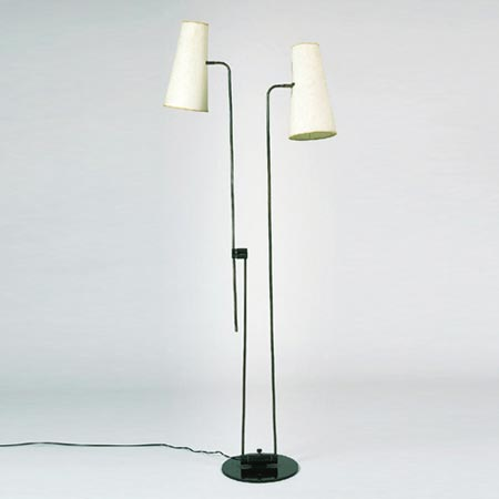 Double-arm standard lamp