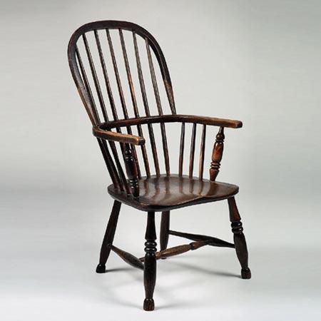 Stickback fireside chair