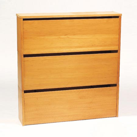 Three-part shoe cabinet