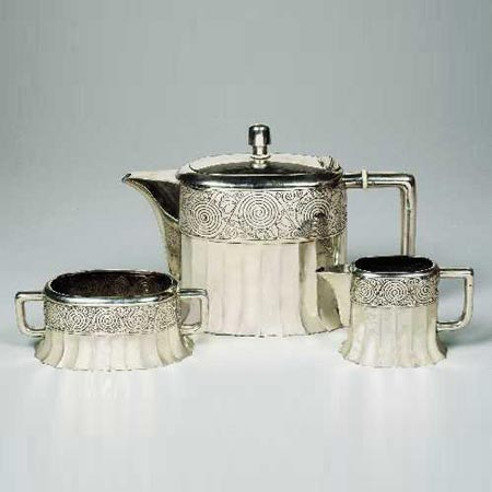 Three-piece tea set by Dorotheum