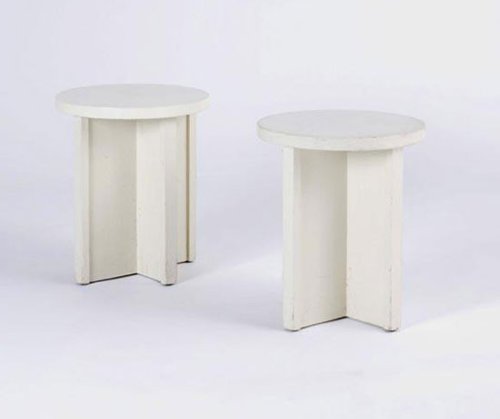 Circular stools, pair by Los Angeles Modern Auctions