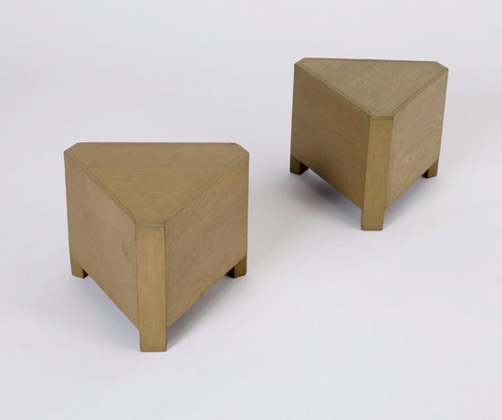 Los Angeles Modern Auctions-Tables, pair