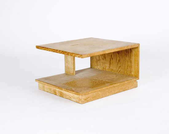 Cantilevered end table by Los Angeles Modern Auctions