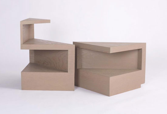 Los Angeles Modern Auctions-End tables, pair