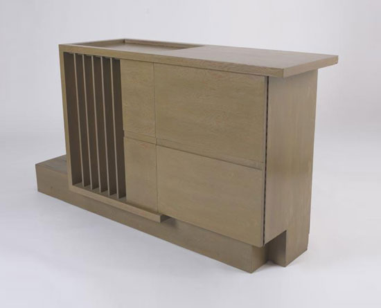 Los Angeles Modern Auctions-Built in radio cabinet