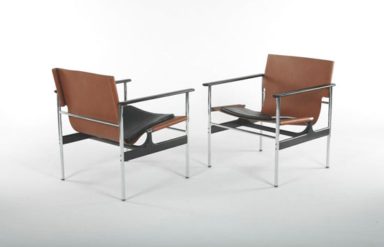 Lounge chairs, pair by Los Angeles Modern Auctions