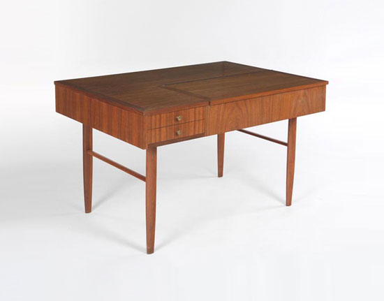 Desk with hidden compartment by Los Angeles Modern Auctions