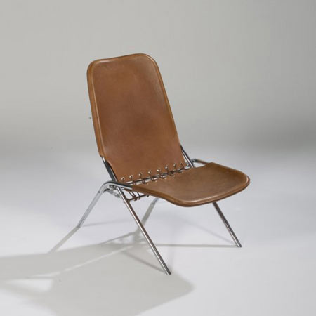 Amazing Leather Folding Chair For Sale At Los Angeles Modern Auctions Caraccident5 Cool Chair Designs And Ideas Caraccident5Info