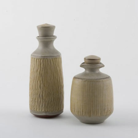 Stopper bottles, pair