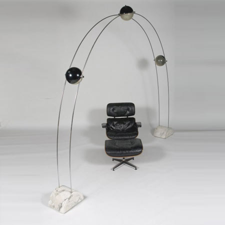 Nucleo arching floor lamp