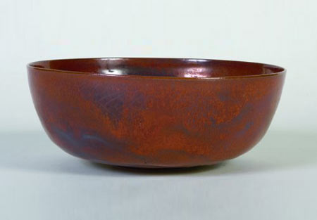 Glazed ceramic footed bowl by Los Angeles Modern Auctions