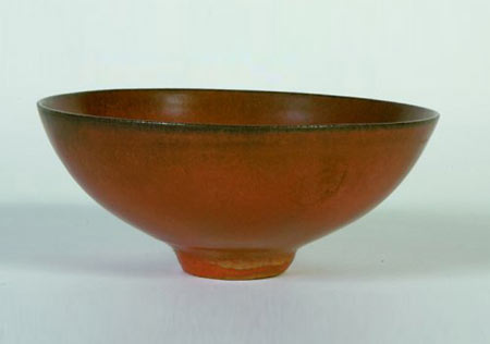Glazed ceramic bowls, pair