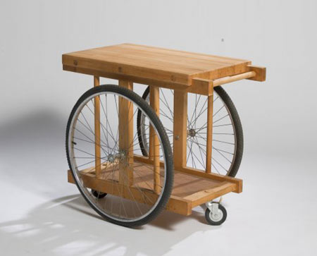 Chopping block on wheels by Los Angeles Modern Auctions