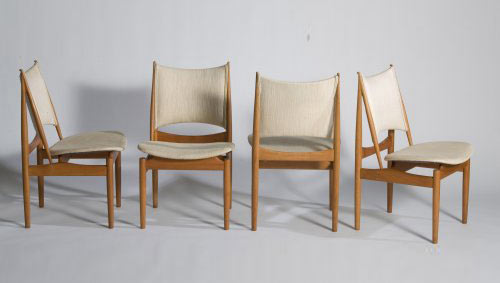 Egyptian dining chairs, set of 4