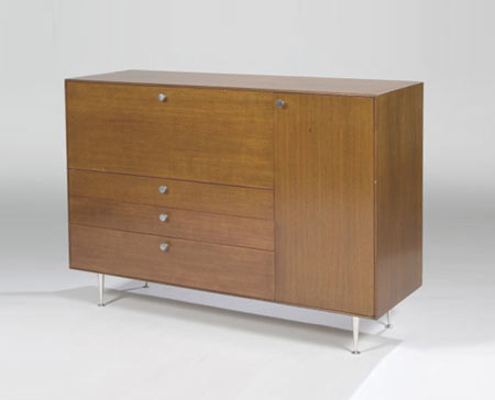 Thin Edge drop-front desk cabinet by Los Angeles Modern Auctions