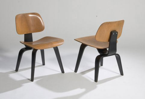 DCW chairs, pair