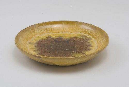 Ceramic dish with glaze pool by Los Angeles Modern Auctions