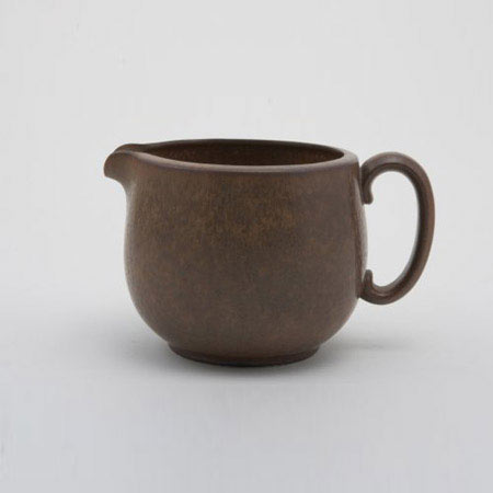 Glazed ceramic pitcher