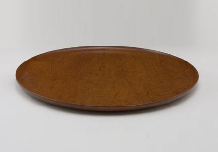 Turned wood plate