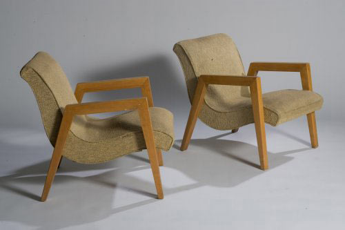 Armchairs, pair
