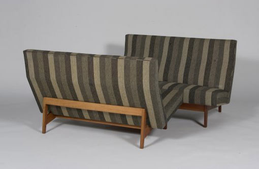 Settees, pair