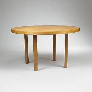 L-leg dining table
