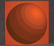 Verner Panton Textil, Kugel orange
