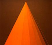 ''Stoffgrafik'', Cretonne, bedruckt, Motiv mit Kegel
