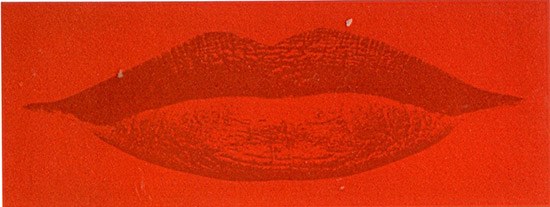 """Design Lips"" fabric wall panel"