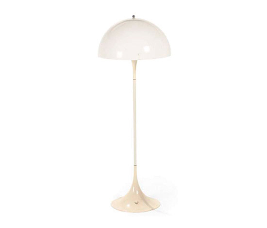 Three Panthella floor lamps