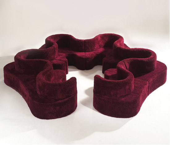 seltene kleeblatt sitzlandschaft design objekte. Black Bedroom Furniture Sets. Home Design Ideas