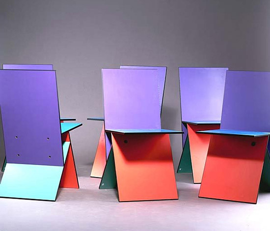 Six 'Vilbert' chairs