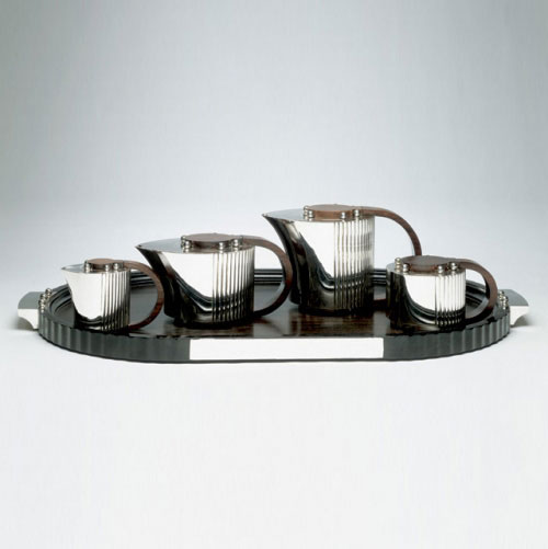 Coffee and tea service with tray