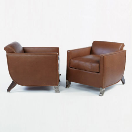Pair of 'Hydravion' armchairs