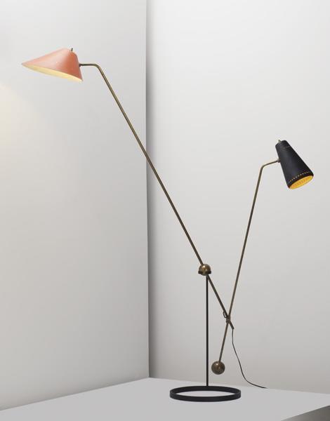 """Adjustable """"Equilibrium"""" floor lamp"""