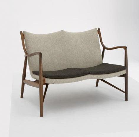 Two-seater sofa, model no. NV45