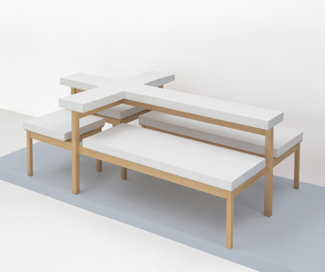 The Cross table and seating unit