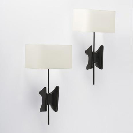 Papillon wall sconces, pair