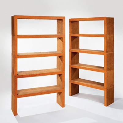 "Ten stacking ""Easy Edges"" shelf units"
