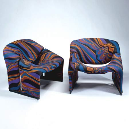 F 598 Lounge chairs, pair