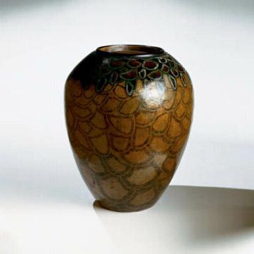 Dinanderie Vase