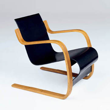 Early cantilevered chair von Phillips