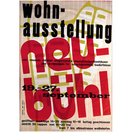 Poster Wohnausstellung Neubühl