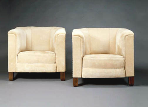 Phillips-Pair of armchairs