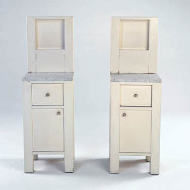 Phillips-Pair of bedside cabinets