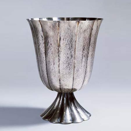 Phillips, de Pury & Company-Tall fluted vase