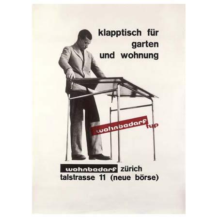 Poster 'Wohnbedarf Klapptisch' de Phillips