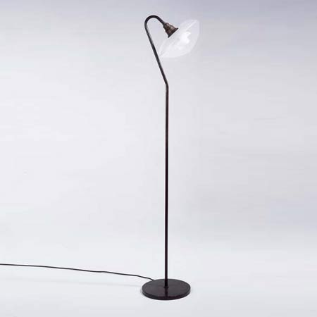 Oblique floor reading lamp
