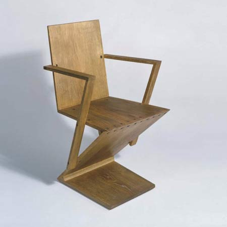 Zig Zag Chair with armrests